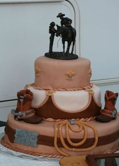 Ideas of the Western-Themed Wedding Cakes   WeddingElation