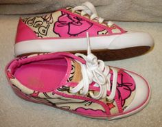 Coach Barrett Poppy Print Leather Pink Patent Leather Trim Sneakers.5 M No Box