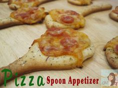Lady Behind The Curtain Pizza Spoon Appetizer