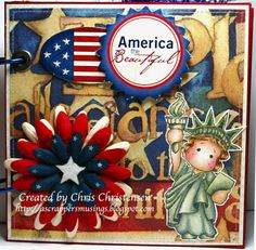 This is the cover for a  16 page Fourth of July mini album that I made for our son and the Magnolia-licious Summer Blog Hop (http://www.magnolia-liciouschallengeblog.blogspot.com/). To see the rest of the album, please visit my blog - http://ascrappersmusings.blogspot.com