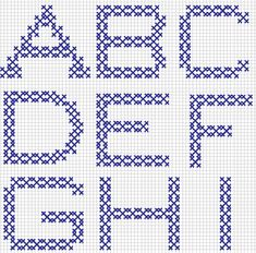 Embroidery and Embroider: alphabets,new designs 3 Cross Stitching, Cross Stitch Embroidery, Cross Stitch Designs, Cross Stitch Patterns, Swedish Weaving, Alphabet Design, Cross Stitch Alphabet, Letter Patterns, Alphabet And Numbers