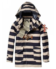 Bonded vintage raincoat - Jackets - Scotch & Soda Online Shop #stripes