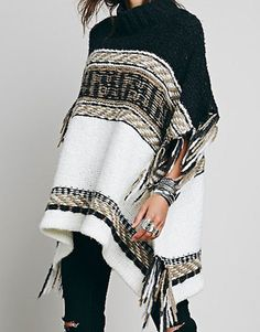 Laura Fringe Cape Sweater