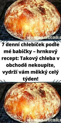 Czech Recipes, Ethnic Recipes, Mini Cheesecakes, Food Humor, Bread Baking, Food Hacks, Bread Recipes, Food To Make, Bakery