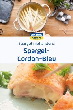 Rezept: Spargel-Cordon-Bleu Spargel mal anders. Im leckeren Spargel Cordon-Bleu. Rezept für ein Schnitzel mit Füllung. Gleich ausprobieren! Fresh Rolls, Asparagus, Food And Drink, Snacks, Baking, Ethnic Recipes, Foodblogger, Food Blogs, Super