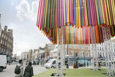 Colorful Pop-Up Pavilion Forms the Centerpiece for Camden Create Festival in London