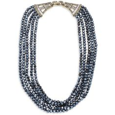 Heidi Daus Crystal Multi-Strand Necklace (180 CAD) ❤ liked on Polyvore featuring jewelry, necklaces, hematite, multi row necklace, crystal jewelry, heidi daus jewelry, multiple strand necklace and multi-chain necklace