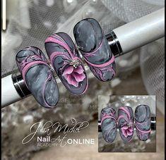 - - Famous Last Words Fabulous Nails, Gorgeous Nails, Lynn Nails, Airbrush Nails, One Stroke Nails, Nagellack Trends, Floral Nail Art, Geometric Nail, Gelish Nails