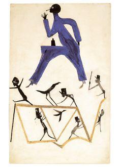 Bill Traylor, ca. 1939 - 1942. High Museum of Art.