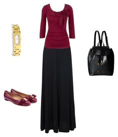 """Pentecostal Outfit"" by daisnalopez on Polyvore featuring French Connection, Salvatore Ferragamo, Gucci and Marc by Marc Jacobs"