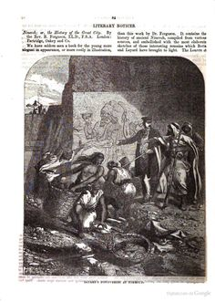 Layard's discoveries at Nimoroud. From The Illustrated London Magazine, 1855