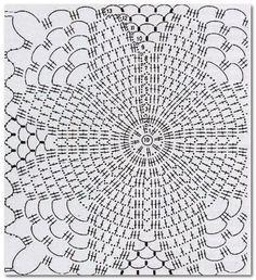 Best 12 stitch scheme of crochet scarf with blue daisies – SkillOfKing. Crochet Scarf Diagram, Crochet Motifs, Crochet Squares, Crochet Granny, Crochet Shawl, Crochet Doilies, Crochet Stitches, Knit Crochet, Crochet Cardigan