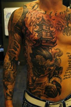 Sleeves and back pieces are some of the most popular kinds of large scale tattoos, however some people opt to go a more painful route and get their stomachs inked. Whether it be a full chest to tor...