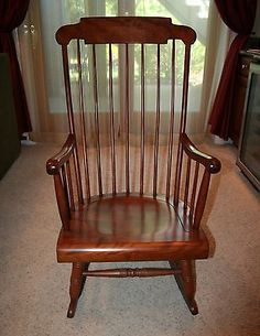 Nichols-Stone-Solid-Cherry-Rocking-Chair-Excellent