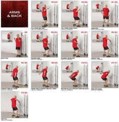 Tower 200 arms and back exercises
