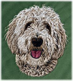 Detailed design documentation - colors, thread consumption, etc. Dog Pattern, Pattern Design, Doodle 2, Goldendoodle, Dog Design, Design Show, Baby Blanket Size, Dog Blanket, Blanket Sizes