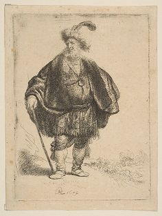 The Persian Rembrandt (Rembrandt van Rijn)  (Dutch, Leiden 1606–1669 Amsterdam) Date: 1632 Medium: Etching Dimensions: image: 4 5/8 x 3 7/16 in. (11.8 x 8.7 cm) Classification: Prints Credit Line: H. O. Havemeyer Collection, Bequest of Mrs. H. O. Havemeyer, 1929 Accession Number: 29.107.8
