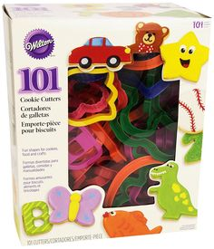 Wilton 101 Piece Cookie Cutter Set -- Check this awesome image : Baking Tools and Accessories Cut Out Cookies, Fun Cookies, How To Make Cookies, Sugar Cookies, Baking Supplies, Baking Tools, Biscuits, Bird Seed Ornaments, Perfect Cookie