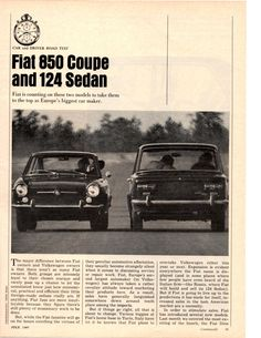 Fiat 850, Car And Driver, Cinnamon Rolls, Volkswagen, Ads, The Originals, Classic, Cutaway, Derby