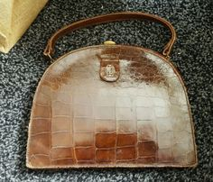 #Vintage #crocodile skin #handbag,  View more on the LINK: 	http://www.zeppy.io/product/gb/2/111954931167/