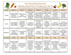 FREE Whole Food Meal Plans & Recipes - lots of NEW recipes this week!