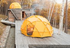 """Setsumasa and Mami Kobayashi's weekend retreat, two and a half hours northwest of Tokyo, is """"an arresting concept,"""" photographer Dean Kaufman says, who documented the singular refuge in the Chichibu mountain range. """"It's finely balanced between rustic camping and feeling like the Farnsworth House."""""""