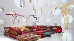 Furniture: Stunning Modular Sectional Sofa Different Colors and Designs: Design For This Sofa Creates A Bohemian Interior ~aycso.com Inspiration