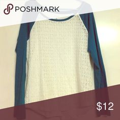 Aeropostale baseball shirt Aeropostale baseball shirt with sheer lace design in front. Fits smaller than size Aeropostale Tops Tees - Long Sleeve