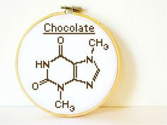 Chocolate Molecule. Cross stitch Pattern PDF. Instant download. Includes easy beginners instructions. on Etsy, $4.50