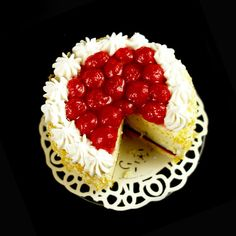 Strawberry Gateau  - Dolls House Miniature Food Handmade