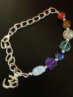 Chakra bracelet handmade by the Siesta Key Bead Shack