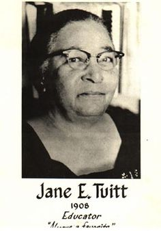 Miss Jane E. Tuitt was born 1/8/1908 in Christiansted, St. Croix to Mr. and Mrs. Fritz Tuitt of Estate Hanna's Rest, St. Croix.