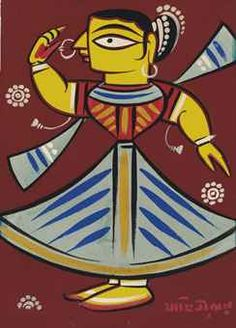 Untitled (Dancer) Modern Indian Art, Indian Folk Art, Indian Artist, Worli Painting, Fabric Painting, Figure Painting, Painting Styles, Madhubani Art, Madhubani Painting