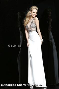 Today's Saturday Style features mind-blowing dresses by evening and prom dress designer Sherri Hill. For brides looking to seriously glam it up for their wedding reception, Sherri Hill has you Ivory Prom Dresses, Sherri Hill Prom Dresses, Designer Prom Dresses, Prom Dresses Online, Dressy Dresses, Event Dresses, Designer Gowns, Homecoming Dresses, Bridesmaid Dresses