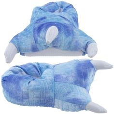 Blue Dinosaur Claw Slippers for Women ~ Details ->> http://amzn.to/MfxSB7