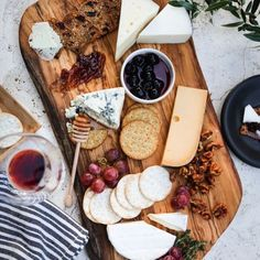 Cheese, crackers, and jam. Yes please!