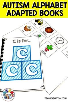 Do your students struggle with their alphabet and letter recognition skills? These alphabet adapted books are perfect for any special education or autism classroom. Autism Teaching, Autism Classroom, Special Education Classroom, Daily 5 Activities, Hands On Activities, Classroom Activities, Autism Resources, Teaching Resources, Teaching Ideas