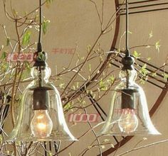 2013 NEW 2PCS/lot New Antique Vintage Style Glass Shade Pendant Lamp Ceiling Light free shipping $299.00