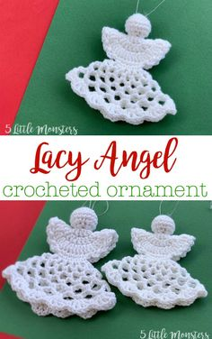 Lacy Crocheted Angel Ornament, free crochet pattern for Christmas Knitting ProjectsCrochet For BeginnersCrochet Hair StylesCrochet Amigurumi Crochet Christmas Decorations, Crochet Ornaments, Crochet Snowflakes, Free Christmas Crochet Patterns, Crochet Ornament Patterns, Crochet Christmas Gifts, Xmas Decorations, Angel Crochet Pattern Free, Crochet Angels