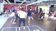 Neoflex Reco Series Rubber Fitness Flooring with Functional Line Markings and Graphics @ Virgin Active, Raffles Place, Singapore