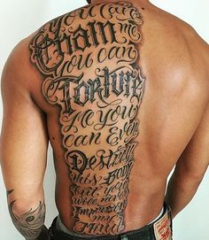 Back Tattoo : Script Tattoo Lettering Design With Lettering ...