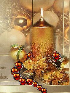 Discover & Share this Christmas Time GIF with everyone you know. GIPHY is how you search, share, discover, and create GIFs. Christmas Tree Gif, Christmas Gingerbread House, Christmas Scenes, Christmas Candles, Christmas Centerpieces, Merry Christmas And Happy New Year, Gold Christmas, Christmas Pictures, Christmas Greetings