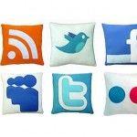 Cojines para geeks de redes sociales