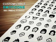 Avatars and Emoticons Vector Set