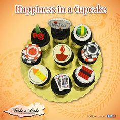 Welcome the celebration of Diwali with Bake O Cake. Yummy cupcakes with small chocolate boxes will make your #Diwali sweet and happy. Order Now: 9830247474 #Cakes #Cupcakes #ChocolateBoxes #Pizza #Shakes #Coffee #BakeOCake