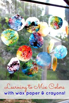 Wax Paper Crayon Melts {Think Outside The Toy Box} - View From The Fridge