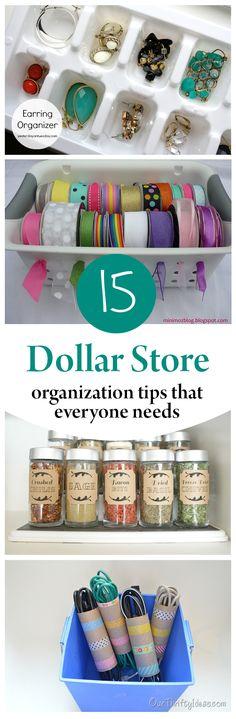 Dollar store organization, organization hacks, popular pin, DIY home, home organization, easy organization, frugal living, frugal organization.