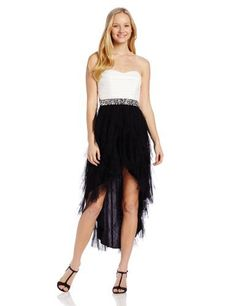 Teeze Me Juniors Strapless Jeweled-Waist High/Low Petal-Skirt Dress, http://www.amazon.com/dp/B00FNJDGKE/ref=cm_sw_r_pi_awdl_YKZOsb1SYGT01