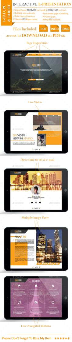 Interactive Pdf Presentation Template Indesign Indd Here Https Graphicriver