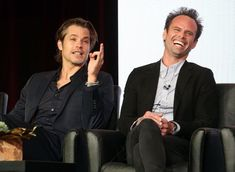 Walton Goggins and #Timothy Olyphant at event of Justified